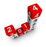 Nouvelle année 2014 Image stock