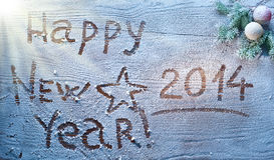 Nouvelle année 2014. Images stock