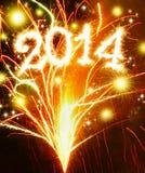 Nouvelle année 2014. Photographie stock