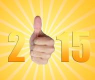 Nouvelle année 2015 photo libre de droits