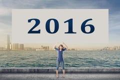 2016, nouvelle année Photographie stock libre de droits
