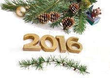 Nouvelle année 2016 Photo libre de droits