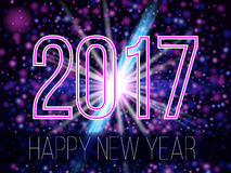 Nouvelle année 2017 Photographie stock libre de droits
