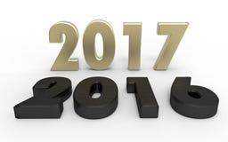 Nouvelle année 2017 Photographie stock