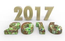 Nouvelle année 2017 Photos stock