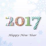 Nouvelle année 2017 illustration de vecteur