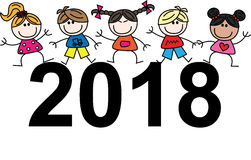 Nouvelle année 2018 Photo stock