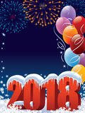 Nouvelle année 2018 Photographie stock libre de droits