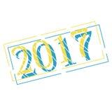 Nouvelle année avec des décorations de boules de Noël Illustration de vecteur illustration libre de droits