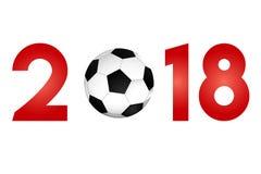 Nouvelle année 2018 avec l'icône du football illustration de vecteur