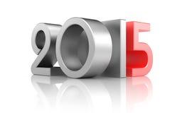 Nouvelle année avec la réflexion Images stock