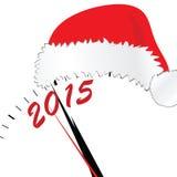 Nouvelle année 2015 avec le vecteur rouge de couleur de chapeau Photographie stock libre de droits