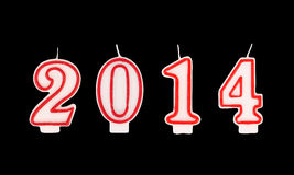 Nouvelle année 2012 - bougies Images stock