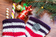 Nouvelle année, carte de Noël Photos stock