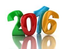 Nouvelle année 2016 (chemin de coupure inclus) Image stock