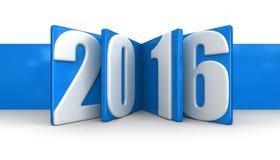 Nouvelle année 2016 (chemin de coupure inclus) Photo stock