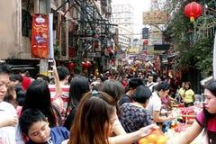 Nouvelle année chinoise à Manille Chinatown images libres de droits