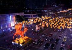 Nouvelle année chinoise avec les décorations cheval-orientées photo libre de droits