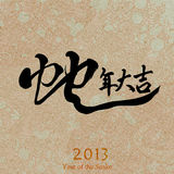 Nouvelle année chinoise 2013, calligraphie Photo stock