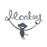 Nouvelle année chinoise de l'illustration de vecteur de singe Photographie stock libre de droits