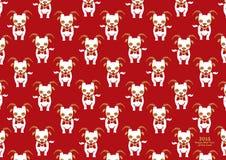 Nouvelle année chinoise du modèle de la chèvre 2015 illustration de vecteur