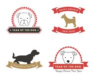 Nouvelle année chinoise heureuse 2018 Année du chien Photos stock