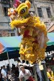 Nouvelle année chinoise, la danse de lion Photographie stock libre de droits