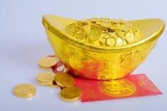 Nouvelle année chinoise, pièces d'or Images stock