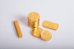 Nouvelle année chinoise, pièces d'or Image stock
