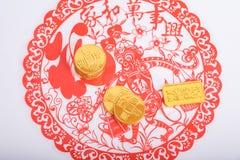 Nouvelle année chinoise, pièces d'or Images libres de droits