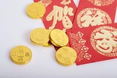 Nouvelle année chinoise, pièces d'or photos stock