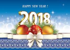 Nouvelle année 2018 Décorations de Noël Image stock