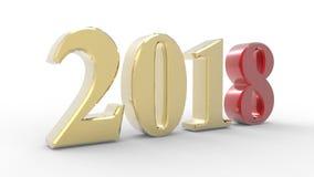 Nouvelle année 2018 3d Photos stock