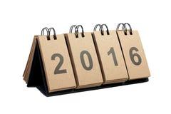 Nouvelle année 2016 d'isolement sur le fond blanc Photo stock