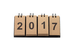 Nouvelle année 2017 d'isolement sur le fond blanc Images stock