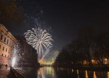 Nouvelle année 2015 dans ORADEA Images libres de droits