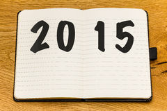 Nouvelle année de carnet vide de pages Photographie stock