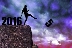 Nouvelle année 2016 de concept Images libres de droits