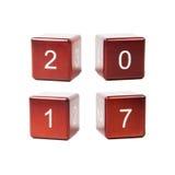 Nouvelle année 2017 de concept Image libre de droits