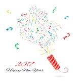 Nouvelle année de confettis Photographie stock libre de droits
