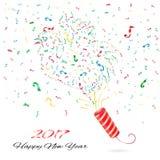 Nouvelle année de confettis Images stock