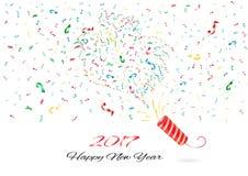 Nouvelle année de confettis Images libres de droits
