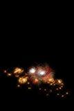 nouvelle année de feux d'artifice avec l'effet de la lumière - beau firew coloré Photo stock