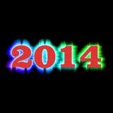 Nouvelle année 2014 de fond Image libre de droits