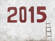 Nouvelle année 2015 de la chèvre Photo libre de droits