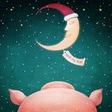 Nouvelle année de porc heureux ! images libres de droits