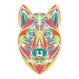 Nouvelle année de Wolf Head Illustration 2019 illustration libre de droits