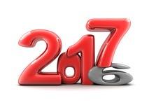 Nouvelle année drôle 2017 Photos libres de droits