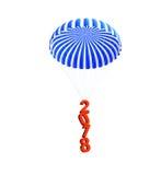 Nouvelle année du parachute 2018 sur une illustration blanche du fond 3D, rendu 3D Image libre de droits