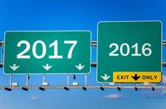 Nouvelle année 2017 en avant Photos stock